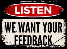 We want your feedback attention board Stock Images