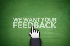 We want your feedback on blackboard Royalty Free Stock Photography