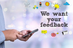 We want your feedback Royalty Free Stock Image