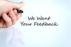 We want your feedback text concept Royalty Free Stock Photo