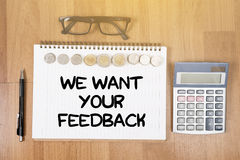 WE WANT YOUR FEEDBACK Royalty Free Stock Photography