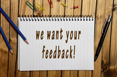 We want your feedback! Royalty Free Stock Image
