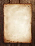 Wanted. Old paper on wood panel royalty free stock images