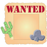 Wanted. Old paper vector illustrated design poster for wanted Stock Photography