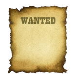 Wanted. Isolated on a white background Stock Image