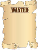 Wanted. Ancient parchment with the words wanted Royalty Free Stock Photo