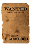 Wanted. Dead or alive isolated Stock Images
