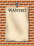 Wanted!. Everybody can write or put anything in this announcment Royalty Free Stock Image