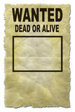 Wanted. Computer rendered image of a wanted poster Stock Images
