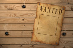 Wanted. The wild West. The old poster about search of the criminal Royalty Free Stock Photos