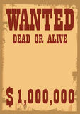Wanted. An old vector wanted poster Stock Image