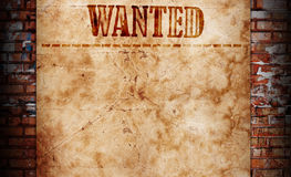 Wanted background royalty free stock images