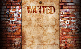Wanted background Stock Image