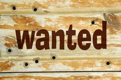 Wanted background Stock Images