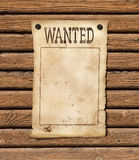 Wanted blank paper sheet Royalty Free Stock Photography