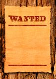 Wanted blank poster stock photos