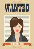 Wanted business woman Stock Images