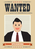 Wanted businessman Royalty Free Stock Photography