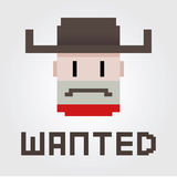Wanted Cowboy Outlaw. Vector illustration of a wanted poster of a cowboy Royalty Free Stock Photo