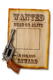 Wanted dead or alive royalty free stock image