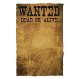 Wanted Dead Or Alive Stock Image