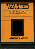 Wanted dead or alive poster Royalty Free Stock Photo