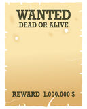 Wanted Dead or Alive Poster. Vintage Wanted dead or alive poster, isolated on white background. Eps file available royalty free illustration