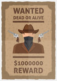 Wanted Dead Or Alive Poster Royalty Free Stock Image