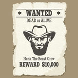 Wanted dead or alive western poster Stock Photos
