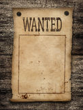 Wanted dead or live paper poster. Wanted dead or live paper background. Wild west poster Stock Images