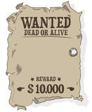 Wanted Dead Or Alive Poster Vector Stock Image