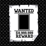 Wanted design Stock Image
