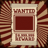 Wanted design Royalty Free Stock Photo