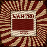 Wanted design Stock Photography