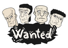 Wanted faces draw Royalty Free Stock Image