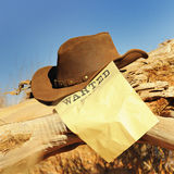 Wanted far west Stock Photo
