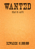 wanted far west stock image