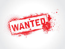 Wanted grunge text Royalty Free Stock Photo