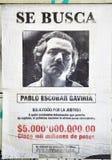 Wanted Pablo Escobar stock image