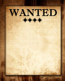 Wanted paper Stock Images