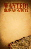Wanted paper design poster. In grungy stock photo