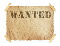 Wanted paper sign Royalty Free Stock Image