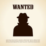 Wanted person. Vector clip art Royalty Free Stock Photography