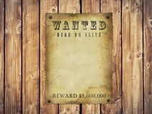 Wanted poster. Antique page - wanted dead or alive. vintage wanted poster Stock Images