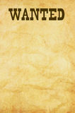 Wanted poster Royalty Free Stock Photography