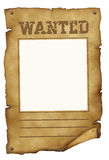 Wanted poster stock illustration