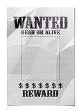 Wanted poster. A wanted dead or alive poster Royalty Free Stock Image