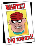 WANTED POSTER. An illustration of a wanted posted with a gangster Royalty Free Stock Photography