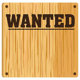 Wanted Poster. On an old wooden background Royalty Free Stock Images