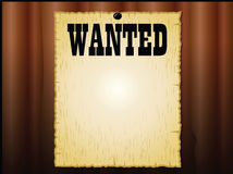 Wanted poster Royalty Free Stock Images